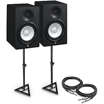 yamaha hs7 powered studio monitor pair bundle. Black Bedroom Furniture Sets. Home Design Ideas