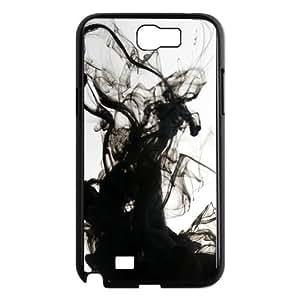 Black Smoke Abstract7 02 Samsung Galaxy N2 7100 Cell Phone Case Black Gift pjz003_3359246