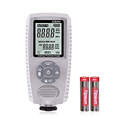 ERAY Paint Coating Thickness Gauge Meter Digital Handheld for Car Automotive with Backlight LCD Display (Grey)