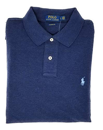 n's Classic Fit Mesh Polo Shirt (Large, Spring Navy) ()