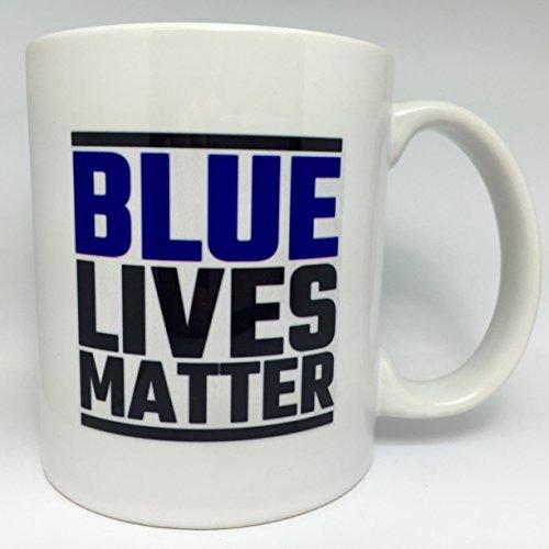 A128 Blue Lives Matter Support Our Police Fire Fighter, Hero Coffee Mug, Tea cup.11 oz ceramic mug