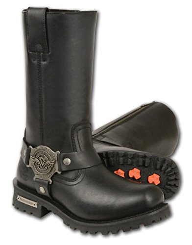 Milwaukee Leather Men's Wide Classic Motorcycle Harness Boots (Black, Size 15) -