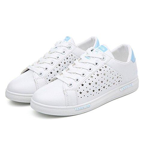 La Sra CHT Hueco Zapatos De Primavera Y Otoño Ocasionales De Los Deportes Blue