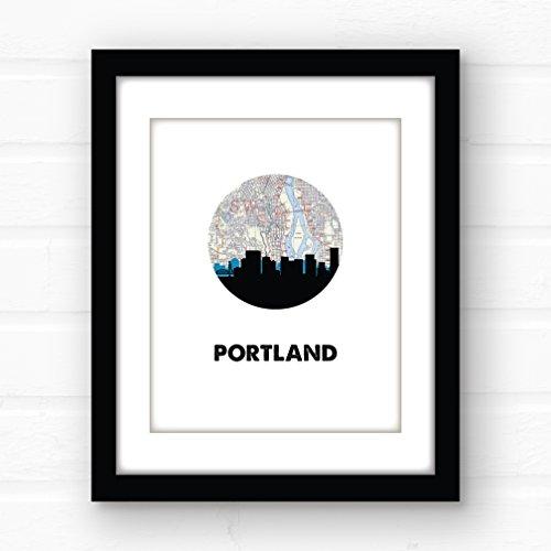 Portland, Oregon skyline art Portland wall giclee print