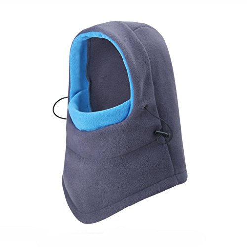 LTUI - Windproof Ski Mask - Cold Weather Face Mask Motorcycle Warmer or Tactical Balaclava Hood - Ultimate Thermal Retention in Outdoors Super Comfortable Hypo-allergenic Moisture Wicking - Moon Shaped Face