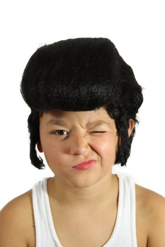 My Costume Wigs Boy's Kid's Elvis Wig (Black) One Size fits all (Elvis Costume For Kids)