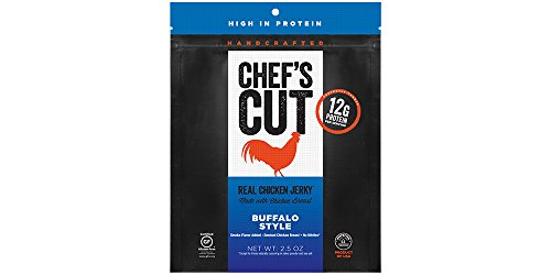 Chef's Cut Gluten Free Real Chicken Jerky, Buffalo Style, 2.5 Ounce (Pack of 4)