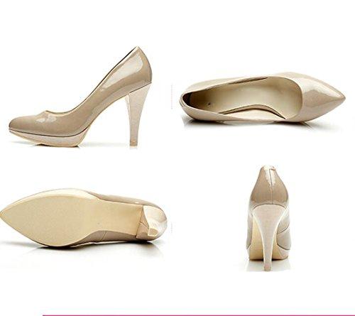 KHSKX-Neue Damenschuhe Im Frühjahr Und Herbst Zeit Stiletto Heels Wasserfeste Schuhe Damenschuhe gray