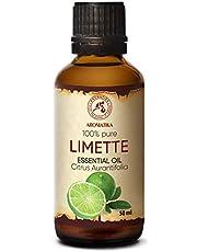 Limoen olie - etherische olie 50ml, 100% puur & natuurlijk, essentiële olie - aromatherapie - geurolie - geurverspreider - ontspanning - toevoegen aan bad & cosmetica - massage - wellness - aroma lamp of elektrische diffuser