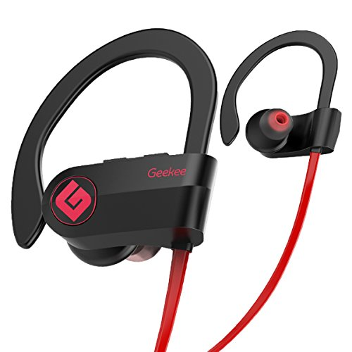 Wireless Bluetooth Headphones Waterproof IPX7, Best Sport In Ear Earbuds Earphones w/ Remote and Mic HiFi Stereo Richer Bass, 9 Hrs Playback Noise Cancelling Headsets(Upgraded)
