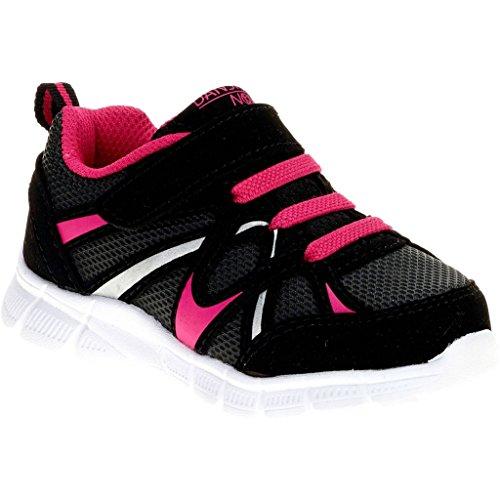 (Danskin Now Toddler Girls' Lightweight Running Shoe, Black, 7)