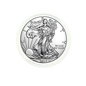 2019 – American Silver Eagle in Plastic Air Tite with our Certificate of Authenticity Dollar Uncirculated Us Mint