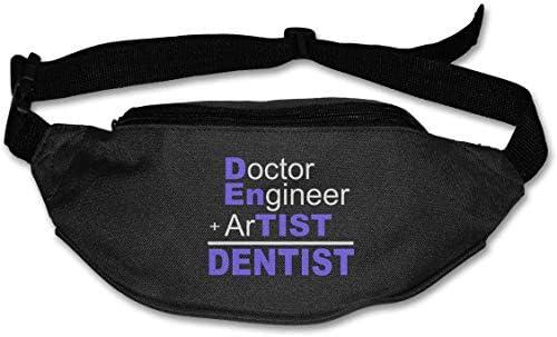 ドクターエンジニアアーティスト歯科医ユニセックスアウトドアファニーパックバッグベルトバッグスポーツウエストパック