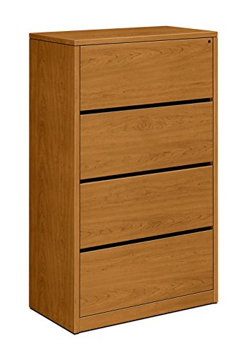 - HON 4-Drawer Lateral File Cabinet, 36 by 20 by 59-1/8-Inch, Harvest