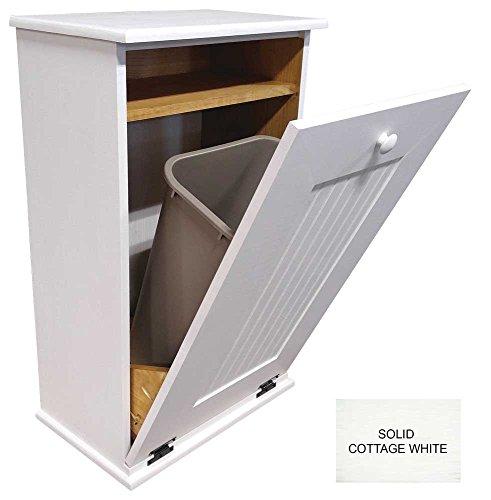 kitchen trash bin wooden - 5