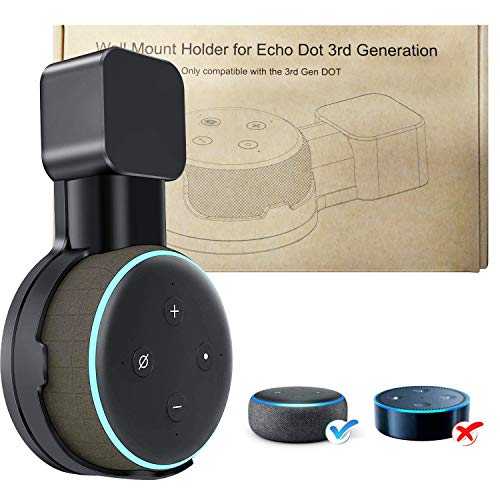 - Wall Mount Holder for 3rd Generation, Space-Saving Stand for Your Smart Home Speakers with Cord Arrangement