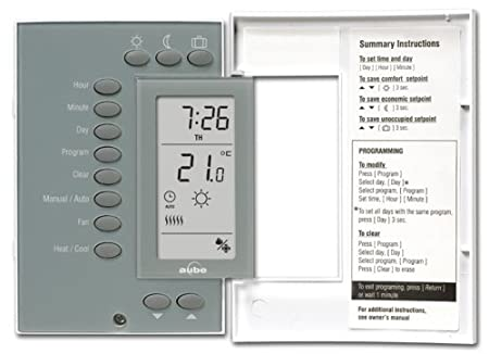 aube by honeywell th141hc 28 b u heat and cooling 7 day programmable rh amazon com Aube Programmable Thermostat Aube Programmable Thermostat