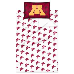 Gophers Merchandise Minnesota - The Northwest Company Officially Licensed NCAA Minnesota Golden Gophers Twin Sheet Set