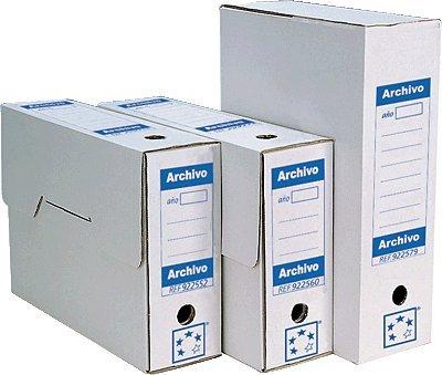 5 Star 922587 - Cajas de archivo definitivo, de cartón, 430 x 316 x116 mm, color blanco: Amazon.es: Oficina y papelería