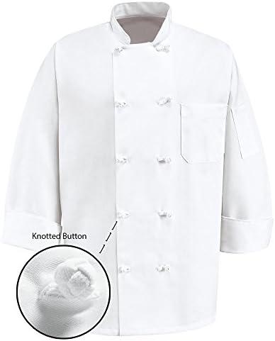 Chef Apparel 350 10 Knot Button Chef Coat-Easy-Care Twill