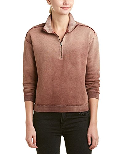 Free People Women's Bonnie Ombre Zip Sweatshirt (Small, Pink) by Free People