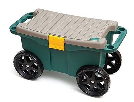 Seat n roll sgabello da giardinaggio con rotelle risparmio di