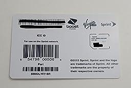 Sprint UICC ICC Micro SIM Card SIMOLW216R - Samsung Galaxy S4, S5, S5 Sport, Mega, Note 3, Note 4, Nexus 5, HTC One, One Max, LG G2