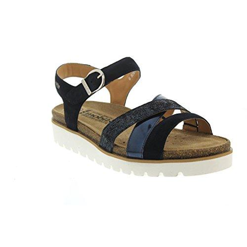 Sandale semelle Nu beige amovible cuir pied Bleu MEPHISTO Marine rptUqdpw