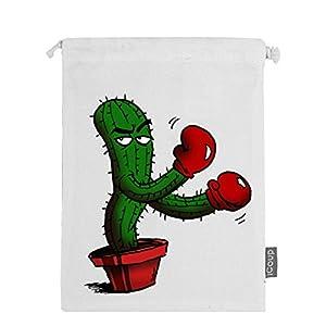 Abbmdd Cactus Drawstring Beam Port Storage Bag Sanitary Napkin Storage Bag Gift Bag
