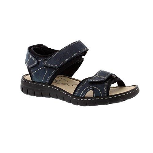 Josef Seibel Stefanie 01 - Jeans Kombi (Blue) Womens Sandals