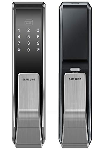 Samsung Digital Door Lock SHS-P717LBK/EN Push Pull Two Way Latch Mortise English Version (Morise - ()