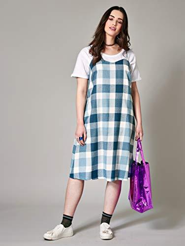 Damen Nicht of by Kleid Angel Style Keine Blau Relevant Kariert SETwxZqa