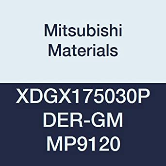 Round Honing Special Design Mitsubishi Materials XDGX175030PDER-GM MP9120 Coated Carbide Milling Insert 0.118 Corner Radius Grade MP9120 0.197 Thick Class G Pack of 10