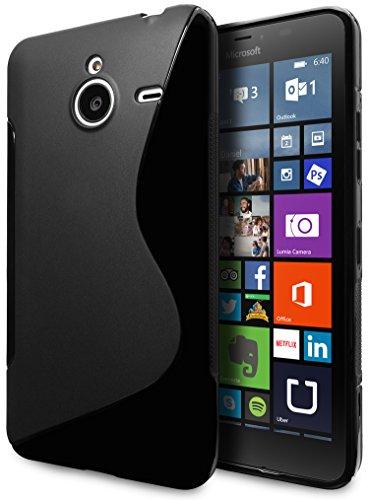 Microsoft Lumia 640 XL LTE Case, Cimo [Wave] Premium Slim TPU Flexible Soft Case for Microsoft Lumia 640 XL - Black