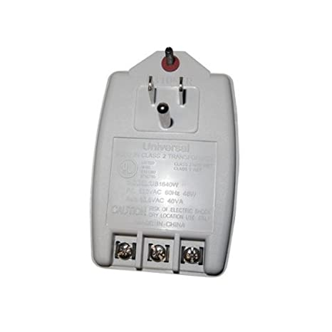 Transformer 16.5 Volt AC 40 VA UL/CSA Security Alarm Transformer Grounded
