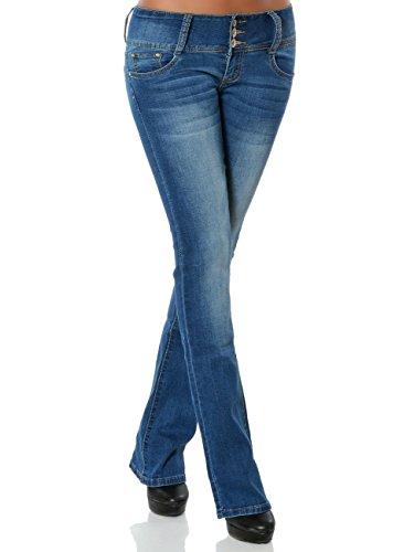 Daleus - Jeans - Bootcut - Uni - Femme Bleu