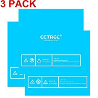 CCTREE 3D Printer Build Surface with 3M Sticker 3D Printer Heated Bed Sheet For 3D Printer Monoprice Maker Select V2, Maker Select Plus,Ultimate Prusa i3 200x200mm (Pack of 3) from CCTREE