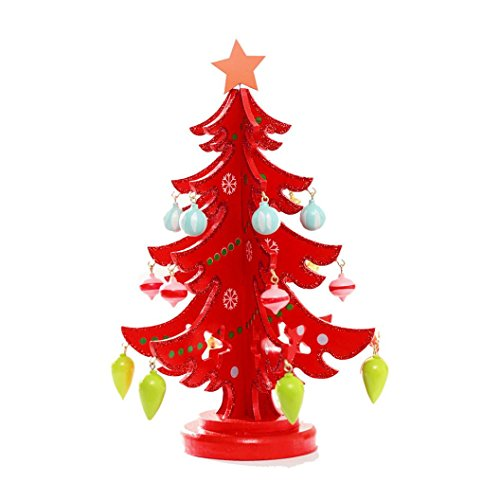 [2016 Christmas Tree!Elevin(TM)Hot Sale 3D DIY Wooden Assembling Christmas Tree Light Home New Year Xmas Party Bedroom Decor Gifts (S,] (Grinch Costume Diy)