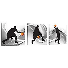 Natural art Sport Themed Canvas Wall Art Ready to Hang Prints on Canvas for Boys Bedroom