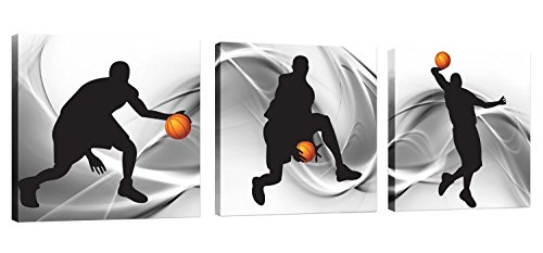Natural art – Basketball Sports Themed Canvas Wall Art for Boys Room Baby Nursery Décor Kids Room Basketball Boys Gift