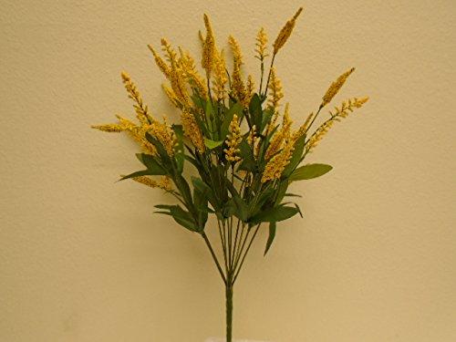 YELLOW Heather Bush 11 Artificial Silk Flowers 18