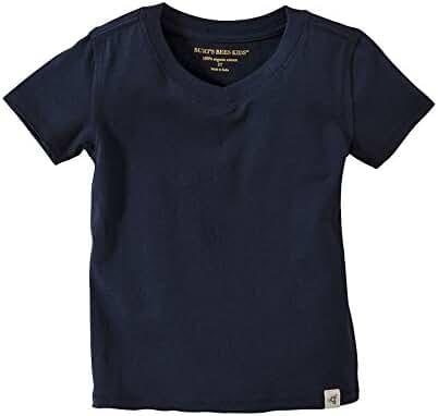 Burt's Bees Baby - Solid Short Sleeve Reverse Seam V Neck Under Shirts, 100% Organic Cotton