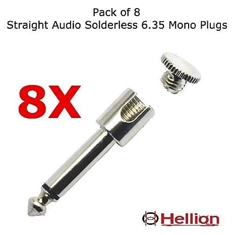 (Conectores solo) para Kit de cables de conexión Hellion para bajo y guitarra,