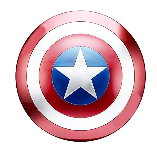 BT Captain America Shield Full Metal Handheld Movie Edition Bar Creative Soft Wall Decoration Pendant Aluminum America Men's Props Adult Cosplay Shield