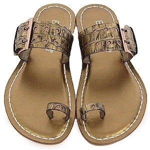 Bernardo Mega Buckle Bronze Sandals 10
