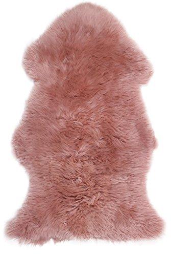 Lambland Super Soft Large Sheepskin Rug in Dark Pink Size 100cm x 70cm