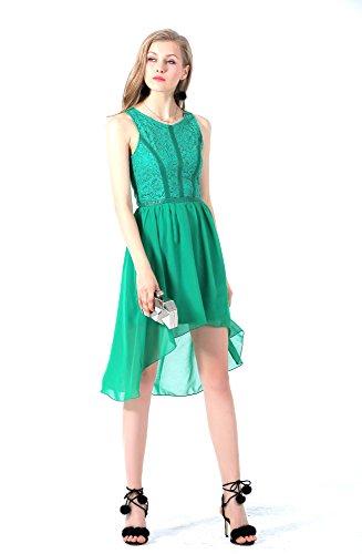 green georgette dress - 4