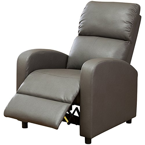BONZY Manual Recliner Chair Modern Push Back Recliner