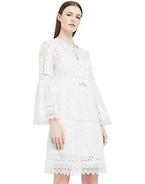 Mango Women's Openwork Cotton Dress