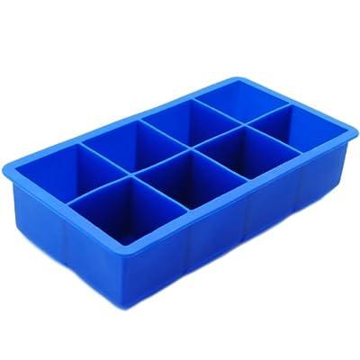 Freshware 8-Cavity Jumbo Cube Silicone Ice Tray, 2-Inch by Freshware, Inc